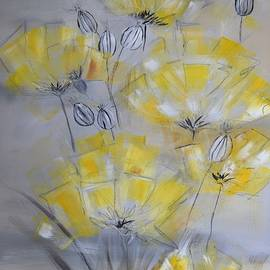 Kathy Morawiec - Yellow and Gray Floral