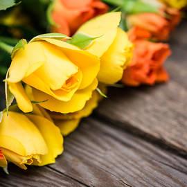 Nadezhda Tikhaia - Yellow and Orange Small Roses