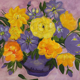 Kate Farrant - Yellow and Purple Flowers