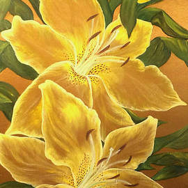 Angelina Roeders - Yellow lilies.