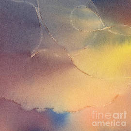 Sharon Freeman - Yellow Orange Blue Watercolor Square Design 3