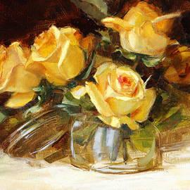 Chris  Saper - Yellow Tea Roses