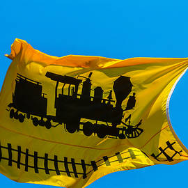 Yellow Train Flag - Garry Gay
