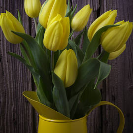 Garry Gay - Yellow Tulips In Yellow Pitcher