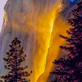 Dr Bob Johnston - Yosemite Firefall Painting