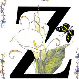 Stanza Widen - Z is for Zantedeschia and a Zebra Butterfly