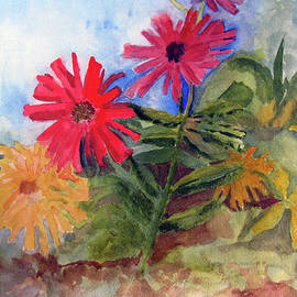 Sandy McIntire - Zinnias in the Garden
