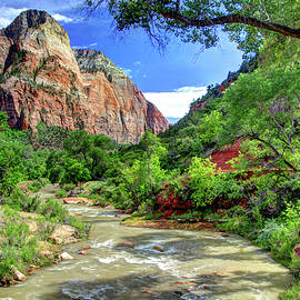 Allen Beatty - Zion N P # 43 - Virgin River and The Watchman