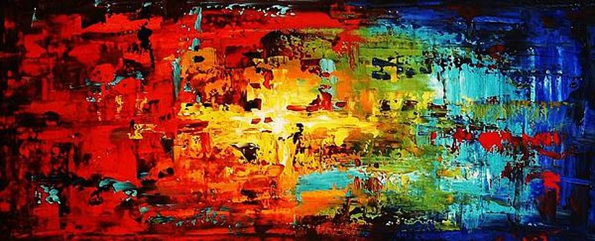 Abstract Large Painting by Jolina Anthony