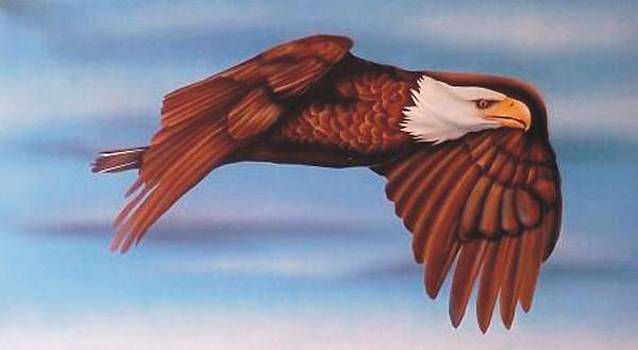 Eagle In Flight by Christopher Fresquez