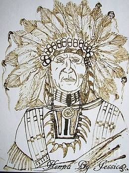 Native American Indian Chief Henna by Jessica Petty