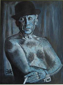 Picasso In Blue by Alan Wilkinson