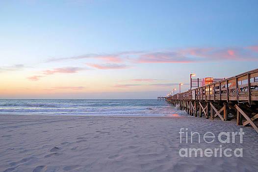 Pier At Dawn  by Dawne Dunton
