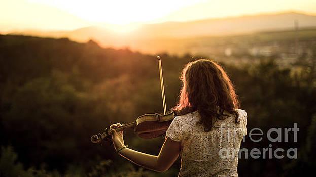 Stunning Violin sunset by John Jamriska