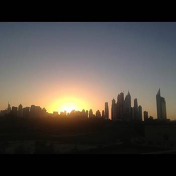 Sunset Over Dubai Feb 2013 by Maeve O Connell