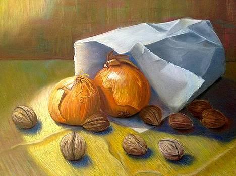 Walnuts and Onions by Gala Ilchenco