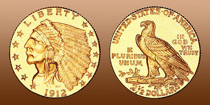 1912 2.5 Gold Dollar by Jim Carrell