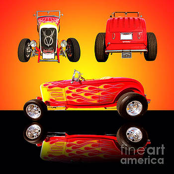 1932 Ford Flaming Hotrod by Jim Carrell