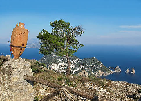 Island Capri view from the highest point Monte Solaro by Kiril Stanchev