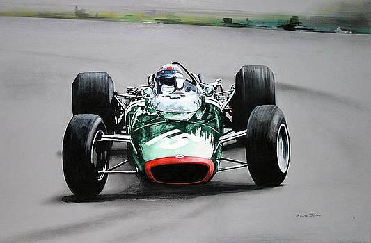 Jackie Stewart  BRM by Steve Jones