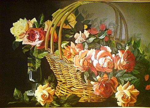 A basket of Flowers by Sonia P