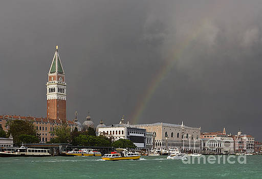 A colorful rainbow just after the storm in Venice by Kiril Stanchev