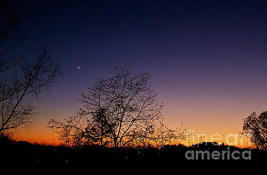 A Crescent Sunset by Jay Nodianos