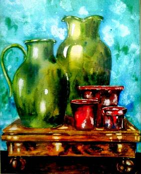 A study in red and green by Anne Dalton