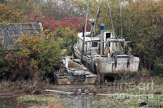 Abandoned Boat by Volodymyr Kyrylyuk