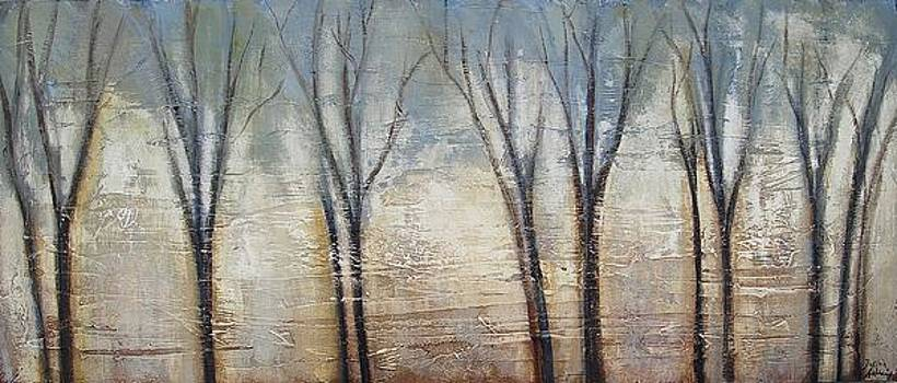 Abstract Painting Morning Fog by Jolina Anthony