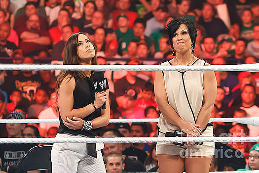 AJ Lee and Vickie Guerrero by Wrestling Photos