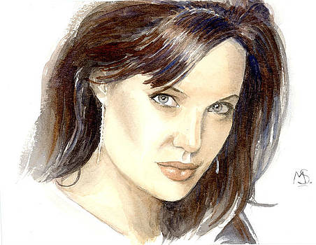 Angelina Jolie by Maddy Swan