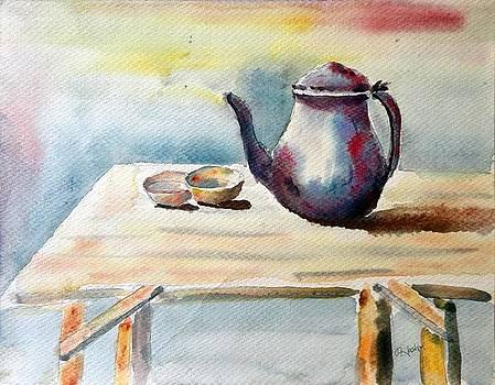 Antique Tea pot painting by Hashim Khan