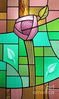 Arts and Crafts Rose by Gilroy Stained Glass