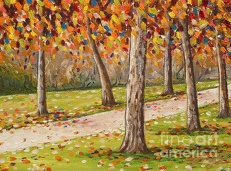 Autumn Path by Gayle Utter