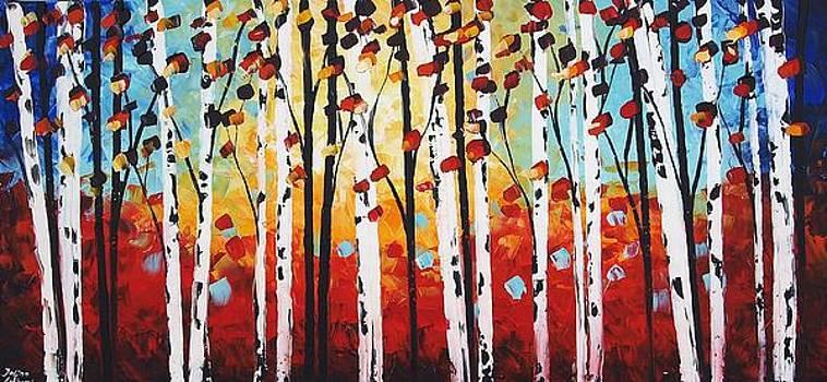 Birch garden  by Jolina Anthony