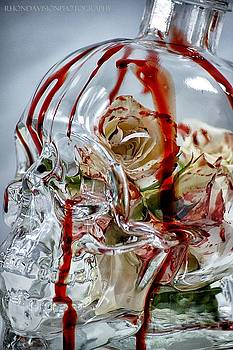 Bleeding Roses Skul by Rhonda DePalma
