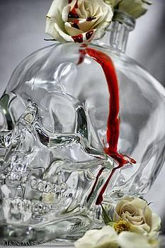 Blood Drip Skull by Rhonda DePalma