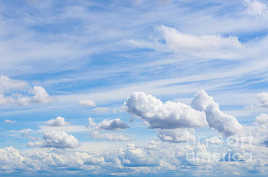 Blue Sky With Clouds by Palatia Photo