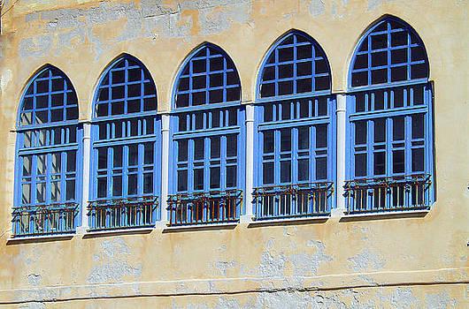 blue windows-Israel by Karl Gebhardt