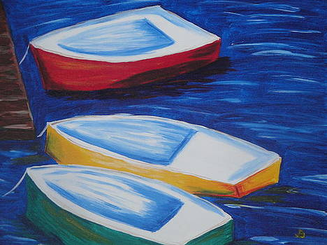 Boats At The Dock by Jeannette Brown