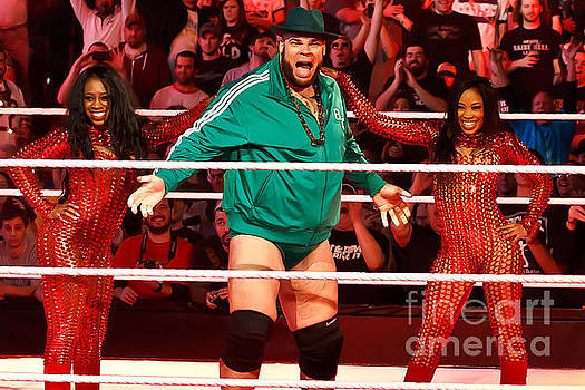 Brodus Clay with Cameron and Naomi by Wrestling Photos