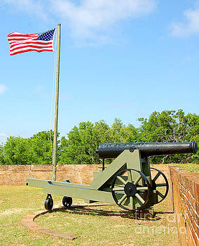 Canon at fort by Cheryl Casey