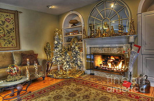 Christmas by the Fireplace by Don Fleming