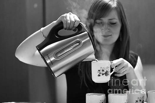 Coffee girl by John Jamriska