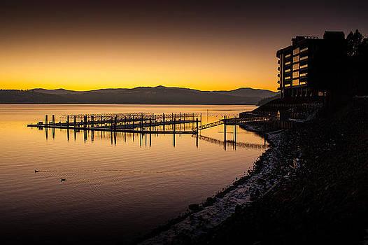 Cour D'Alene Sunset by Paul Bartoszek