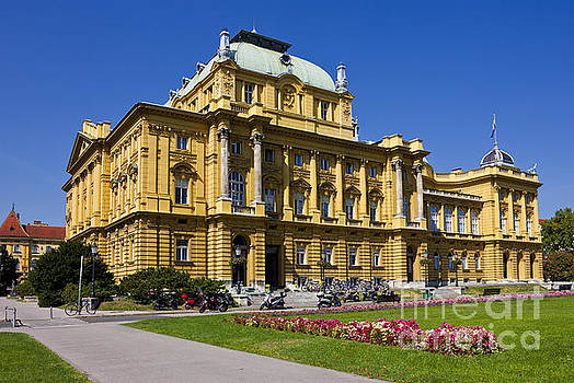 Croatian National Theatre in Zagreb by Kiril Stanchev