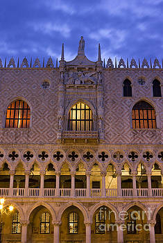 Doge's Palace in Venice sunrise detail by Kiril Stanchev