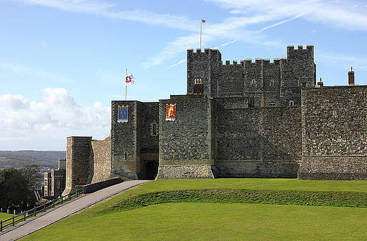 Dover Castle in Kent county distant shot by Kiril Stanchev
