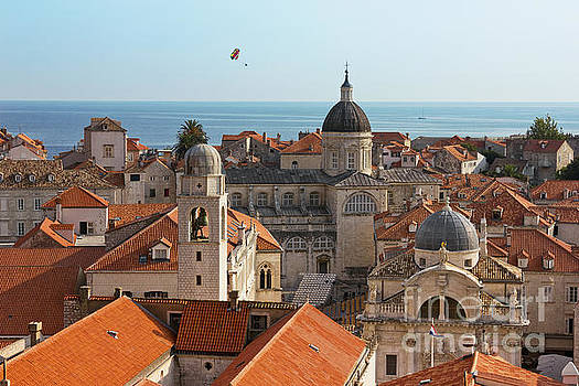 Dubrovnik Old City Cathedral View with The Sea by Kiril Stanchev